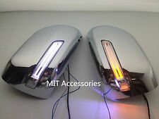 Toyota Land Cruiser 2012-14 Chrome mirror cover LED turn lights Parking lamps-W