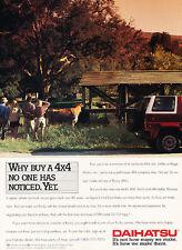 1991 Daihatsu Rocky SUV 4x4 - Classic Vintage Advertisement Ad H10