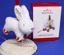 Hallmark Ornament Baby's First Christmas 2013 Somebunny New to Love Plush Rabbit