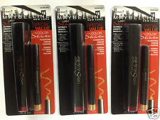 3 X Maybelline Lash Stiletto Mascara & Cream Shadow VERY BLACK/GOLDEN AURA 03.