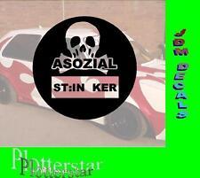 Asozial Stinker Ruß Diesel Benzin Plaket Umwelt Hater Shocker Sticker Aufkleber