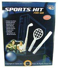 Wii SPORTS KIT Golf Club Tennis Racquet Baseball Bat Remote Accessories Set I