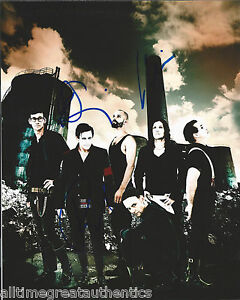 RAMMSTEIN BAND SIGNED 8X10 PHOTO X3 OLLIE PAUL CHRISTOPH RARE GERMANY ROCK