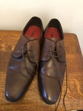 Emilio Luca Mens Brown Leather Shoes Size 7 Lace Ups All Occasions