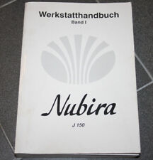 DAEWOO NUBIRA J 150 MANUALE OFFICINA Volume 1, 2, 3 und 4 COMPLETO in tedesco