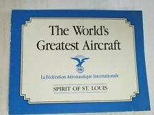 Franklin Mint Spirit of St. louis The Worlds Greatest Aircraft Original Coa