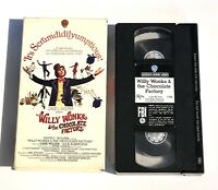 Willy Wonka And The Chocolate Factory Vhs, 1986 Slip Sleeve
