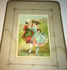 Rare Large Antique Victorian American Clothing Advertising Hyde Park Trade Card!