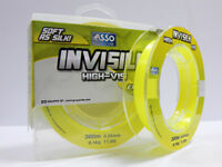 Asso NEW Invisilk Extremely Visible Fishing Line soft as Silk 300 m Yellow