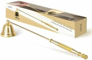 Gold CandleSnuffer, Candlesnuffer Wick Snuffer Candle Accessory with Long Handle