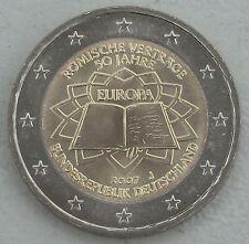 2 Euro Deutschland J 2007 Römische Verträge unz