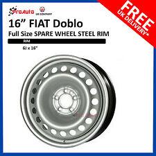 """FIAT DOBLO 2010 - 2017 FULL SIZE STEEL SPARE WHEEL 16""""  STEEL RIM"""