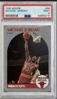 1990 Fleer Hoops Michael Jordan Chicago Bulls #65 Basketball Card PSA 9 MINT