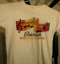"""old Drum Corps shirt Bluecoats """"watch the music"""" bugle corps"""