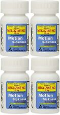 Meclizine 25 mg Generic Bonine Motion Sickness 100 Chew Tablets PACK of 4