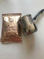 Turkish Coffee Pot Ibrik Kettle Jazzva Cezve Stainless St & coffee Free UK Post