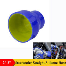 3 Ply 51/76mm Car Intercooler Turbo Silicone Hose Coupler Tube Intake Pipe Blue