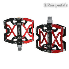 "Bike Wide Pedals 9/16""MTB BMX Cycling Sealed 3 Bearing Pedals CNC Machined 1Pair"
