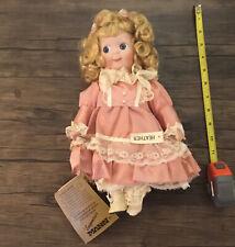 Seymour Mann Porcelain Doll 12� Blonde 1986 Connoisseur Collection Victorian
