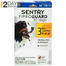 Sentry Fiproguard Plus Flea And Tick Topical For Dog 89-132Lbs Treatment Control