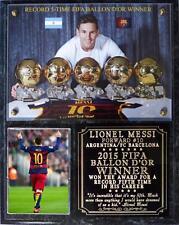 Lionel Messi Record 5th Ballon d'Or Photo Plaque Barcelona-Argentina