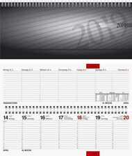 rido Tischquerkalender septant 2019 anthrazit WOW