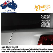 Warning 24/7 Alarm Response Car Security Stickers Anti Theft Decals Best Gifts