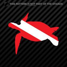 Graphic Turtle DS153 Scuba Diving Bumper Sticker Dive Flag Decal