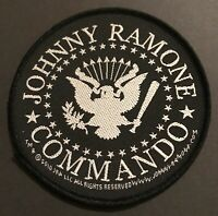 RAMONES Johnny Ramone Commando Woven Sew On Patch Official Licensed Band Merch