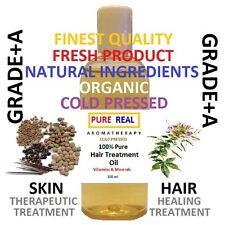 HAIR TREATMENT OIL 100% Pure Alopecia Scalp Thinning 100ml BP Thickening Healing