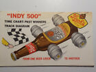 Stroh's Beer - Indy 500 Time Chart - Past Winners Track Diagram - 1973