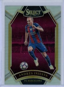 2016-17 Panini Select Field Level Silver Prizm #2225 Andres Iniesta FC Barcelona