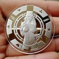 Sexy Cowgirl / 1 oz .999 Fine Silver  Round Bar Bullion Coin SB1L7-3