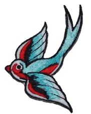 Swallow Iron On / Sew on  Patch- Embroidered Appliques Animal Birds Zoo Crafts