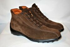 Tod's Men's Luxury Ankle Boots Brown Suede Bicycle Split-Toe Size 8M