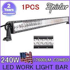 42''240W LED SPOT/Flood COMBO Offroad Light Bar 4WD SUV Boat SCREW Driving LAMP