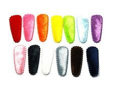 36pcs Assorted colors Shiny felt small Hair Clip Covers accessories Size 35 mm