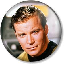 "Captain James T Kirk Star Trek 1"" 25mm Pin Button Badge Sci-Fi TV Movies Cult"