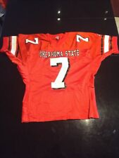 Game Worn Used Oklahoma State Cowboys Football Jersey #7 Sports Belle L-Xl