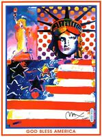 PETER MAX POSTER- 2OO2 WINTER OLYMPICS-VERY COLORFUL  APROX SIZE 18X24-CT#8