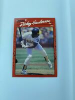 "RICKEY HENDERSON  1990 Donruss No Dot After ""Inc"" Error Card HOF"