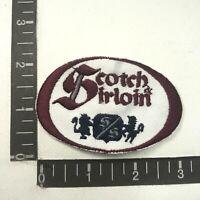 Was On Hat, Cut Out SCOTCH & SIRLOIN Advertising Patch (Wichita, KS Steak) S07G