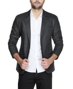 Guess Men's Dom Coated Blazer Black Coated Size L