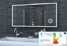 LED beleuchtet Badspiegel Badezimmerspiegel Uhr / 3Fach Kosmetiksspiegel LMC1460