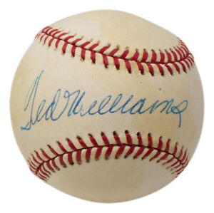 Ted Williams Boston Red Sox Signed Official American League Baseball UDA