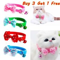 Pet Bowknot Necktie Collar Cute Bow Tie Bell Kitten Puppy Adjustable Dog Cat