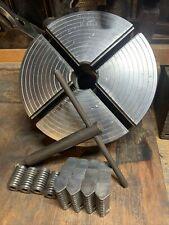 South Bend Logan Atlas Craftsman Lathe 8 4 Jaw Independent Chuck 1 12 8 Tpi