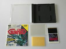 PC Engine Hu-Card Soft GUNHED / Gun Hed TurboGrafx JAPAN GAME w/ Manual & Case!!