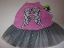 Glitter ANGEL WINGS Tulle Dog Dress new pet S Top Paw puppy Small Christmas