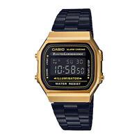 CASIO Vintage Classic Black & Gold Series Retro Digital Watch A168WEGB-1B
